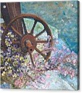 Garden Wheel Acrylic Print