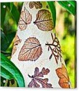 Garden Leaf Pattern Windchime Acrylic Print