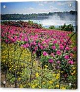 Garden With A View Niagara Falls Acrylic Print