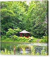 Garden With Pond Acrylic Print
