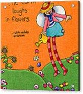 Gardener Angel Acrylic Print