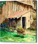 Gardening Shed Acrylic Print