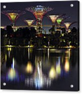 Gardens By The Bay Supertree Grove Acrylic Print