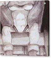 Garglin' Gar-goyle Acrylic Print