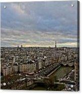 Gargoyle And The Eiffel Tower Acrylic Print