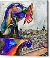 Gargoyle Of Color Acrylic Print