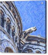 Gargoyle On Sacre Coeur Acrylic Print