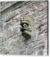 Gargoyle On The Side Of Castle Doune Scotland Acrylic Print