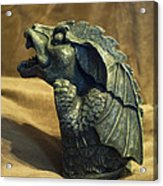 Gargoyle Or Grotesque Profile Acrylic Print