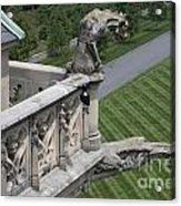 Gargoyles On Roof Of Biltmore Estate Acrylic Print
