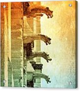 Gargoyles With Textures And Color Acrylic Print