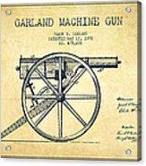 Garland Machine Gun Patent Drawing From 1892 - Vintage Acrylic Print