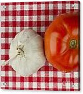 Garlic And Tomato Acrylic Print