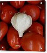 Garlic And Tomatoes Acrylic Print