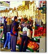Garlic Festival Farmers Market Food Vendors Onions Garlic Farm Fresh Chef Art Carole Spandau Acrylic Print