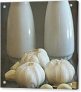 Garlic Vinegar And Oil Acrylic Print by Sophie Vigneault