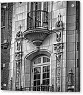 Garrison Hall Window Ut Bw Acrylic Print