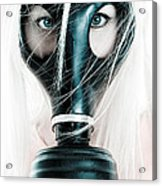 Gas Mask Acrylic Print by Jt PhotoDesign