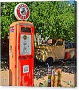 Gas Pump At Embudo Gas Museum Acrylic Print