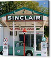 Gas Station And Truck Acrylic Print