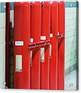 Gaseous Fire Suppression Cylinders Acrylic Print