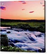 Gaski Waterfall, Grafarlandaa River Acrylic Print