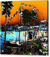 Gasparilla Sunset Acrylic Print by David Lee Thompson
