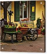 Gast Haus Display In Rothenburg Germany Acrylic Print by Greg Matchick