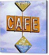 Gaston's Cafe Acrylic Print by Ron Regalado