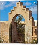 Gate At San Xavier Del Bac Acrylic Print