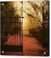 Gate At The Abby Acrylic Print