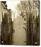 Gate Cross Acrylic Print