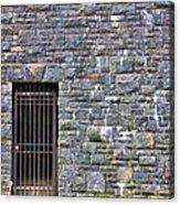 Gate Entrance On Stone Wall Acrylic Print