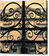 Gate In Front Of Mansion Acrylic Print