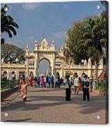 Gate To Maharaja's Palace India Mysore Acrylic Print