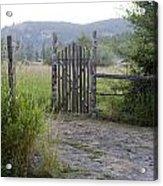 Gate To Peaceful Paradise Acrylic Print