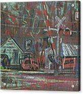 Gated Crossing Acrylic Print