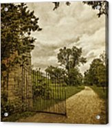 Gated Elegance Acrylic Print