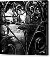 Gated Heart Acrylic Print by Kelly Hazel