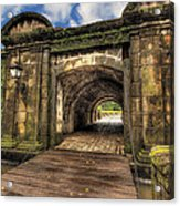 Gates Of Intramuros Acrylic Print by Mario Legaspi