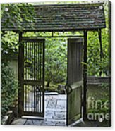 Gates Of Tranquility Acrylic Print by Sandra Bronstein