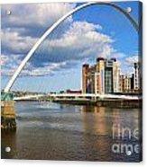 Gateshead Millenium Bridge In Newcastle 6206 Acrylic Print