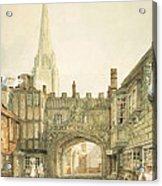 Gateway To The Close, Salisbury Acrylic Print