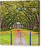 Gateway To The Old South Paint Acrylic Print by Steve Harrington