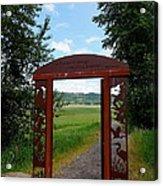 Gateway To The Trail Acrylic Print by Lizbeth Bostrom