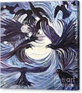 Gathering Of The Ravens Acrylic Print