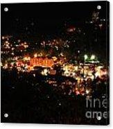 Gatlinburg At Night Acrylic Print
