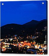 Gatlinburg Skyline At Night Acrylic Print