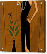 Gatsby Girl Acrylic Print by Troy Brown