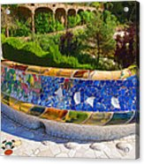 Gaudi's Park Guell - Impressions Of Barcelona Acrylic Print